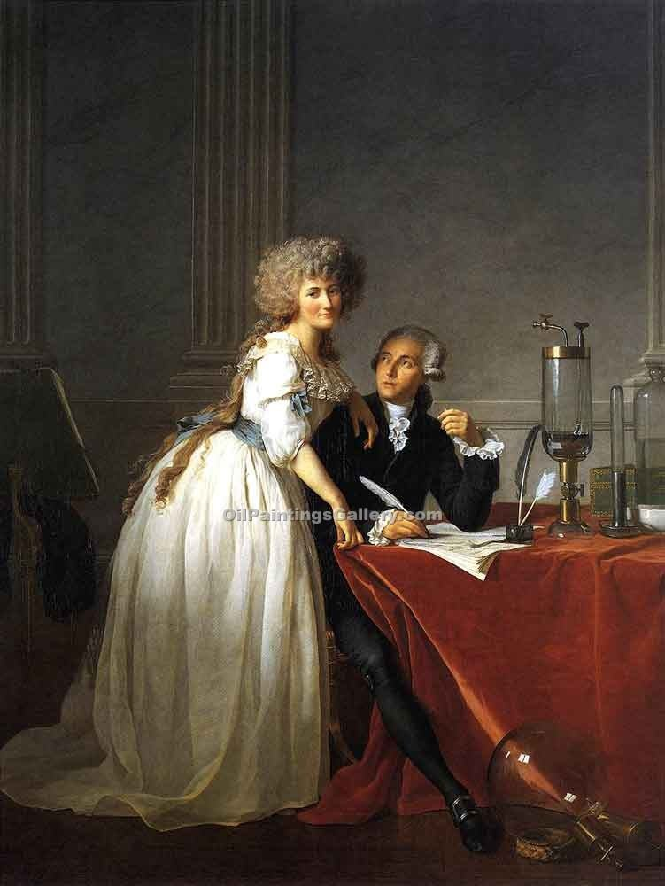 """Portrait of Antoine Laurent and Marie Anne Lavoisier 69"" by  Jacques Louis David"