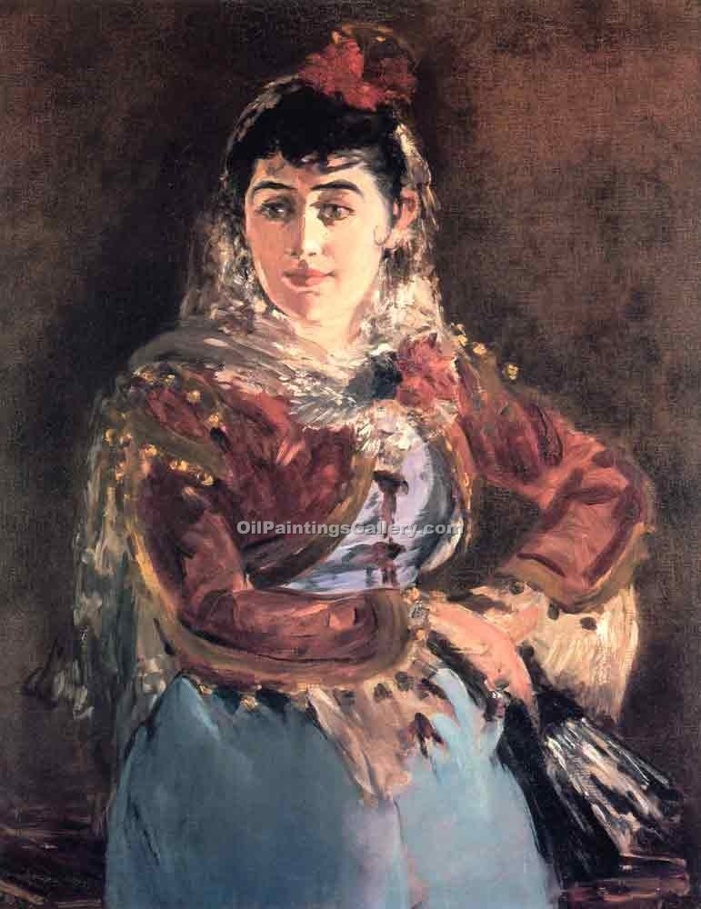 """Portrait of Emilie Ambre in the role of Carmen"" by  Edouard Manet"
