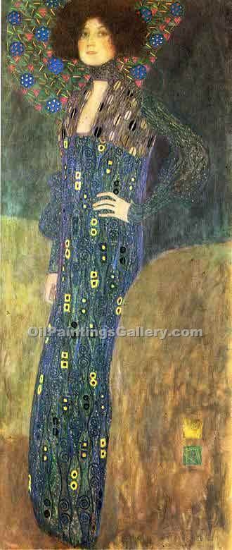 """Portrait of Emilie Floge 70"" by  Gustav Klimt"