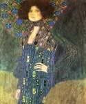 Portrait of Emilie Floge 70 by  Gustav Klimt (Painting ID: EI-1870-KA)