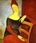 Portrait of Jeanne Hebuterne 16 by  Amedeo Modigliani (Painting ID: EI-2016-KA)