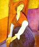 Portrait of Jeanne Hebuterne 17 by  Amedeo Modigliani (Painting ID: EI-2017-KA)