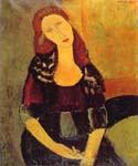 Portrait of Jeanne Hebuterne 29 by  Amedeo Modigliani (Painting ID: EI-2029-KA)