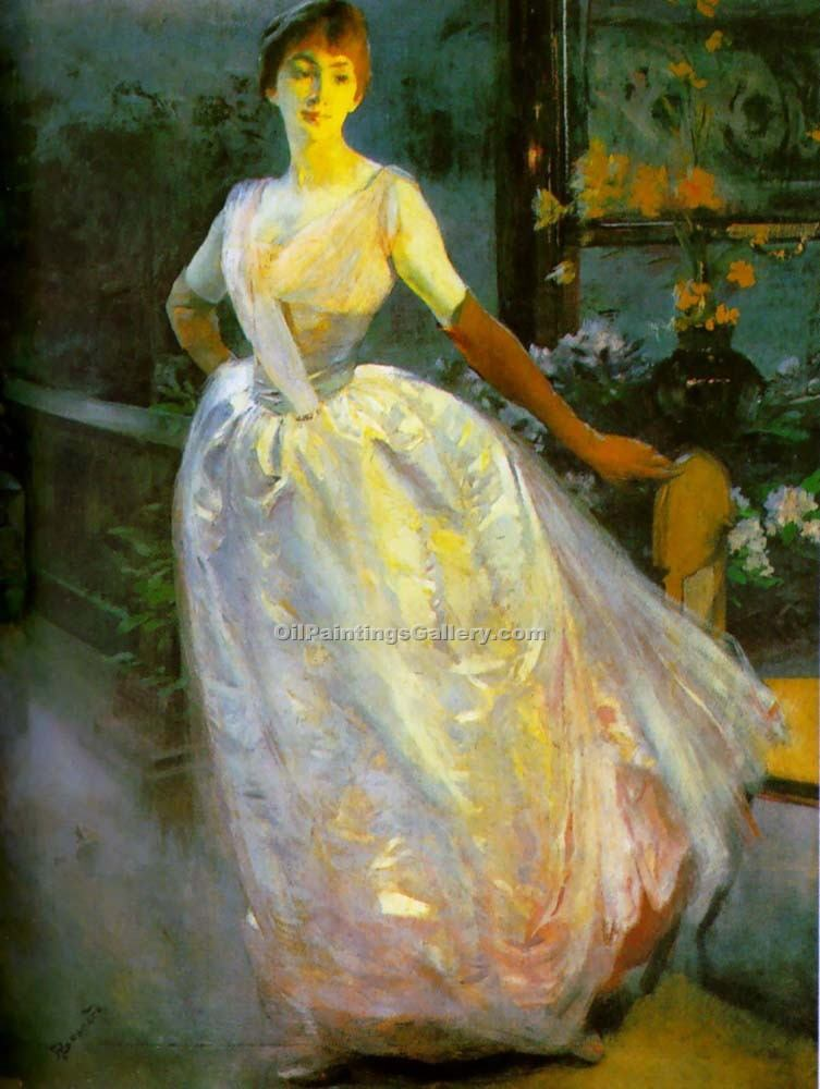"""Portrait of Madame Roger Jourdain"" by  Paul Albert Besnard"