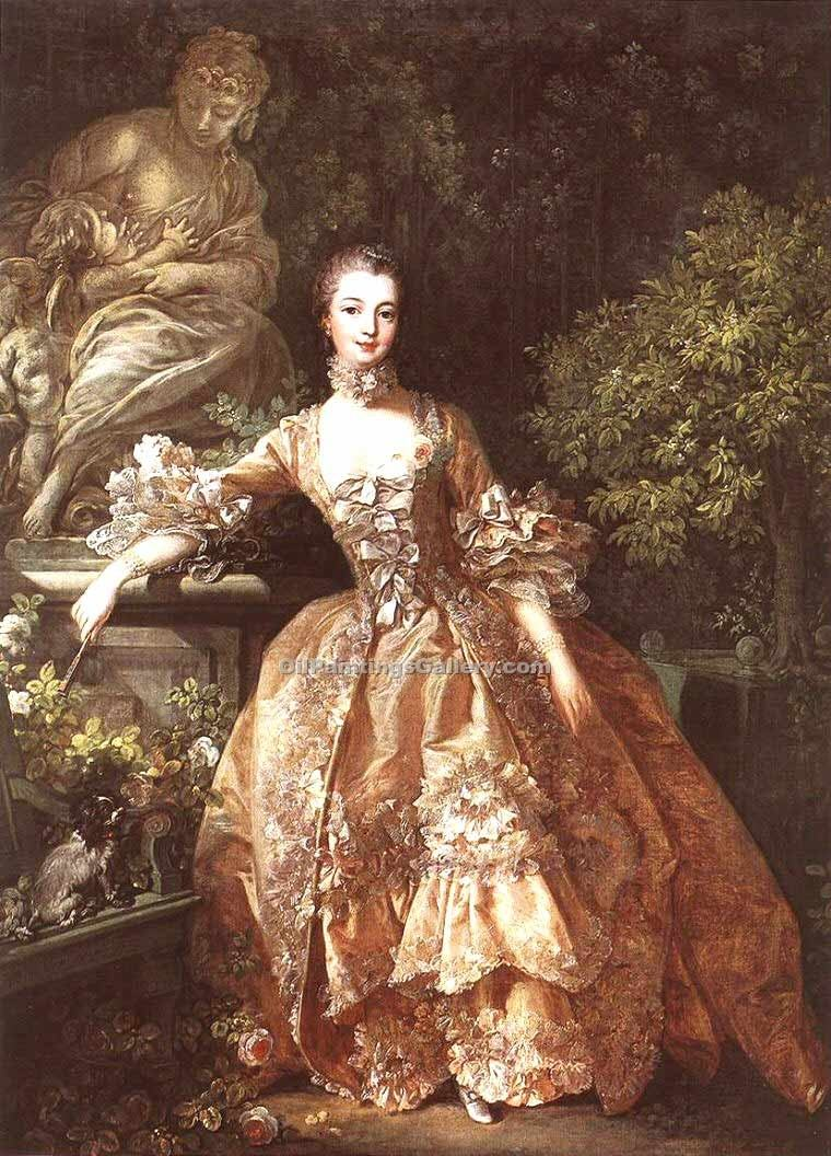 """Portrait of Marquise de Pompadour 22"" by  Francois Boucher"