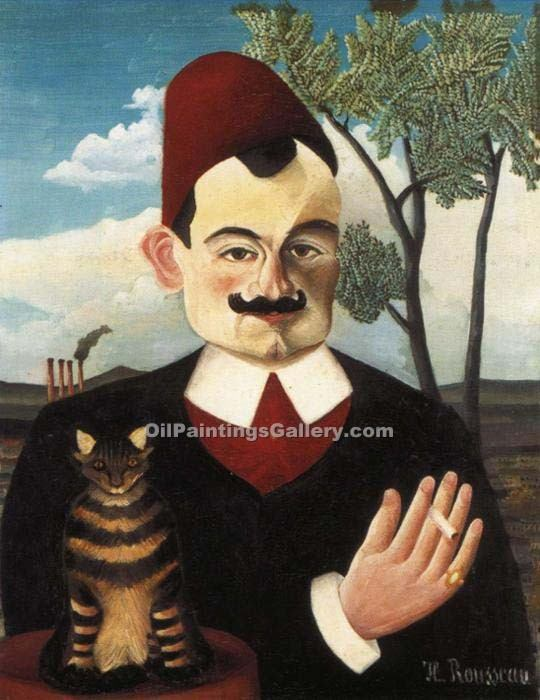 """Portrait of Monsieur X"" by  Henri Rousseau"