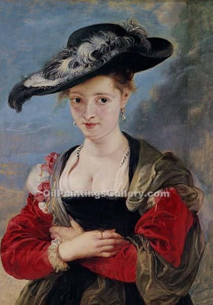 """Portrait of Susanna Lunden"" by  Peter Paul Rubens"