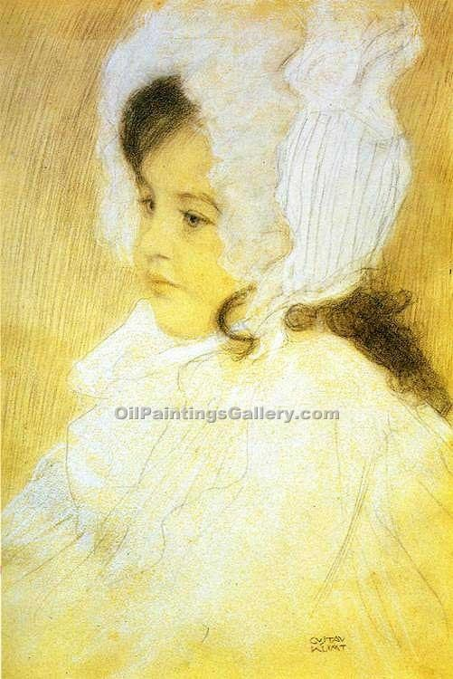 Portrait of a Girl 90 by GustavKlimt | African American Paintings - Oil Paintings Gallery