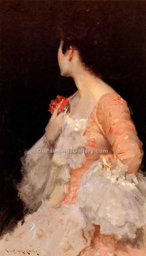 """Portrait of a Lady 04"" by  William Merritt Chase"