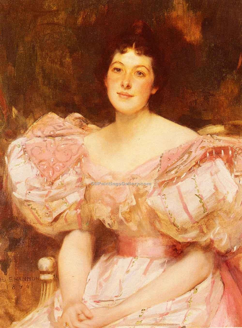 """Portrait of a Lady 84"" by  James Jebusa Shannon"