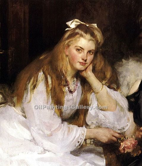 """Portrait of a Lady 90"" by  James Jebusa Shannon"