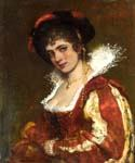Portrait of a Venetian Lady by  Eugene de Blaas (Painting ID: EI-0552-KA)