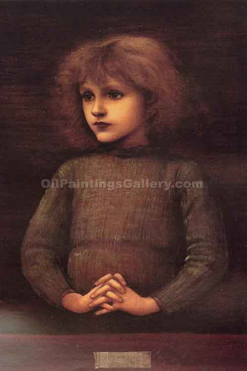 """Portrait of a Young Boy"" by  Edward Burne Jones"