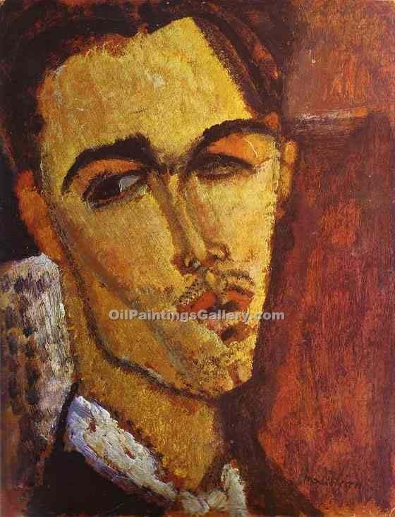 """Portrait of the Spanish Painter Celso Lagar"" by  Amedeo Modigliani"