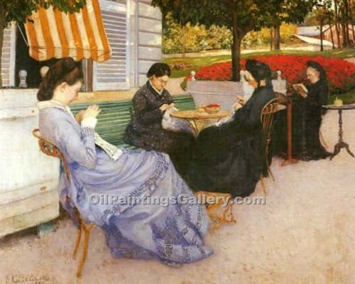 """Portraits a  la campagne"" by  Gustave Caillebotte"