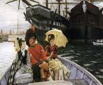Portsmouth Dockyard by  James Tissot (Painting ID: CL-4248-KA)
