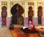 Prayer in the Mosque  (Painting ID: AN-3254-KA)