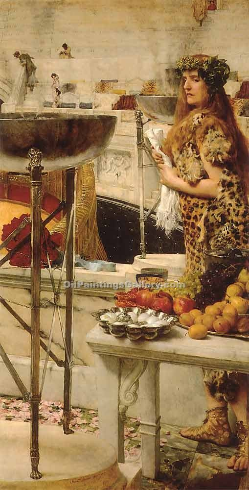 Preparation in the Coliseum by Sir LawrenceAlma Tadema | Artist Painting - Oil Paintings Gallery