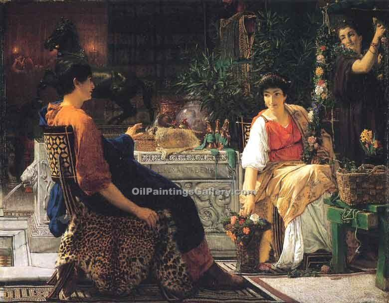 """Preparations for the Festivities"" by  Sir Lawrence Alma Tadema"