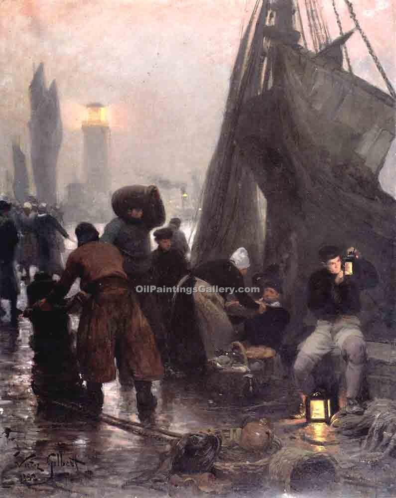 """Preparing For Departure London"" by  Victor Gabriel Gilbert"