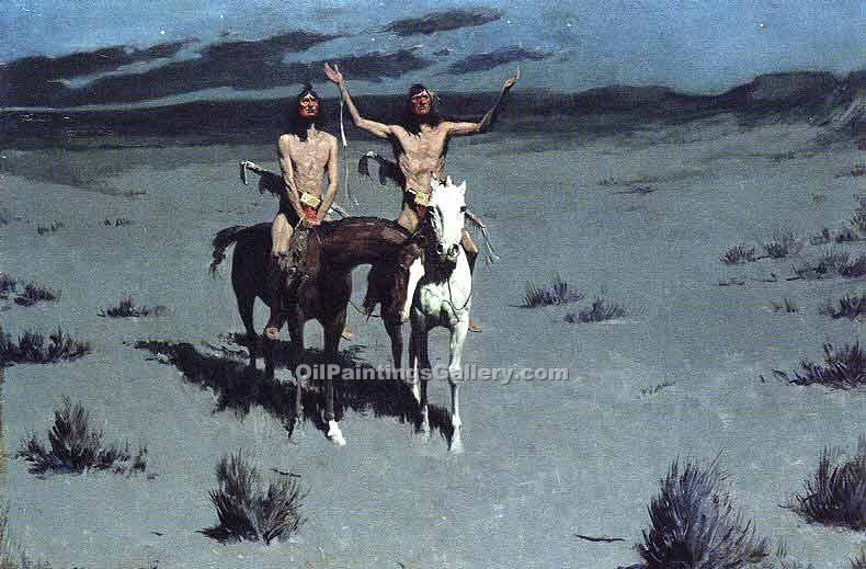 """Pretty Mother of the Night"" by  Frederic Remington"
