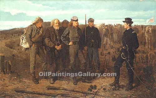 """Prisoners from the Front"" by  Winslow Homer"