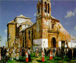 Procession in a Castilian Village by  Jose Moreno Carbonero (Painting ID: LA-2602-KA)