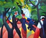 Promenade 39 by  August Macke (Painting ID: EI-0339-KA)