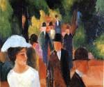 Promenade 40 by  August Macke (Painting ID: EI-0340-KA)