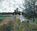 Promenade Near Argenteuil by  Claude Monet (Painting ID: MO-1251-KA)
