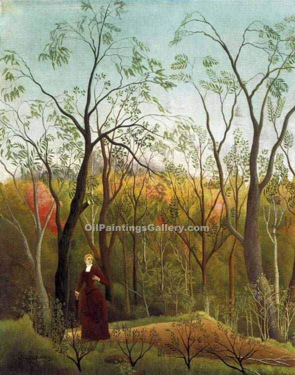 """Promenade in the Forest"" by  Henri Rousseau"