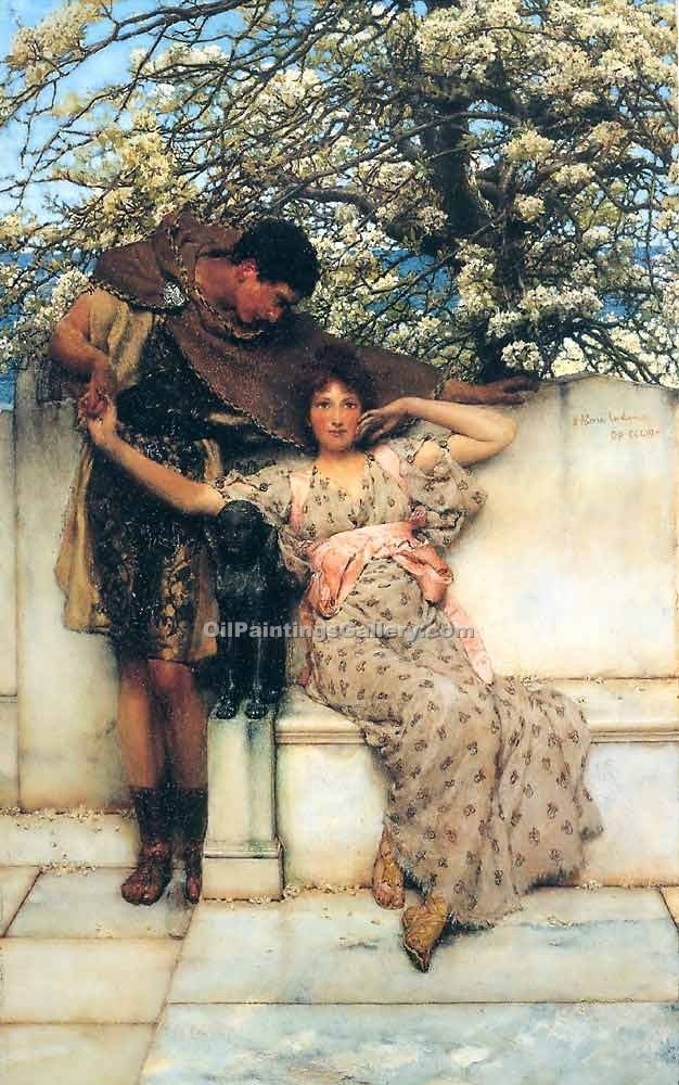 """Promise of Spring"" by  Sir Lawrence Alma Tadema"