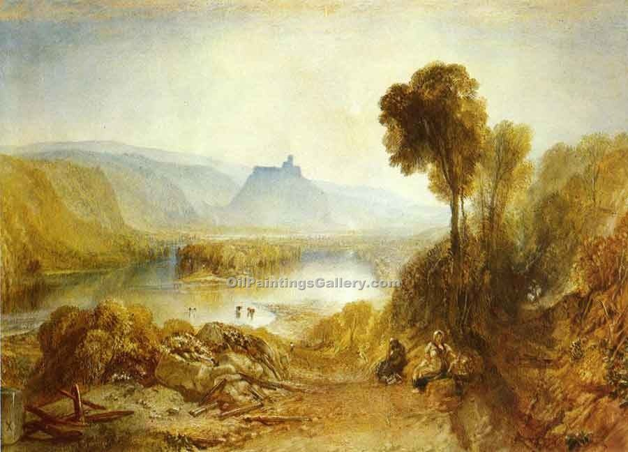 Prudhoe Castle Northumberland by William Turner | Paintings Reproduction - Oil Paintings Gallery