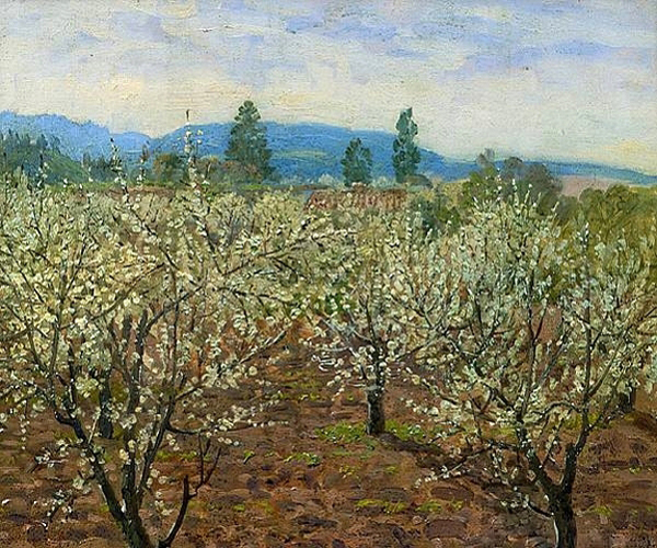 """Prune Blossoms, Saratoga, California"" by  Theodore Wores"
