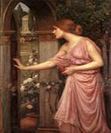 Psyche Entering Cupids Garden by  John William Waterhouse (Painting ID: CL-4207-KA)