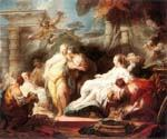 Psyche Showing her Sisters her Gifts from Cupid by  Jean Honore Fragonard (Painting ID: CM-0988-KA)