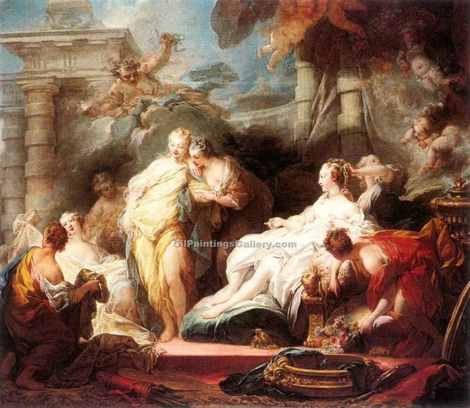"""Psyche Showing her Sisters her Gifts from Cupid"" by  Jean Honore Fragonard"