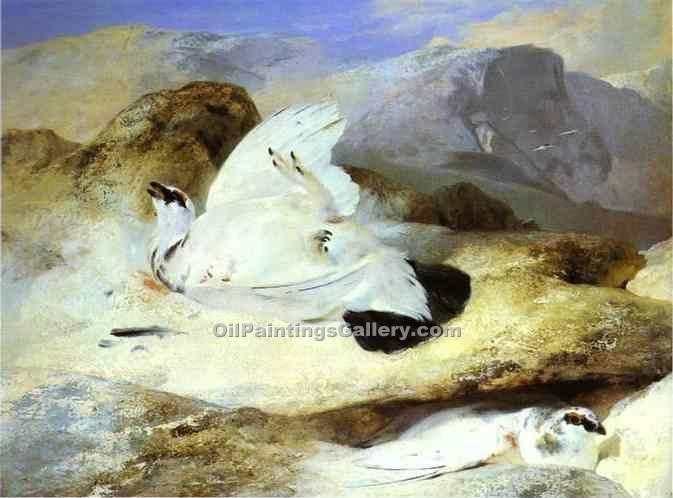 """Ptarmigan"" by  Sir Edwin Henry Landseer"