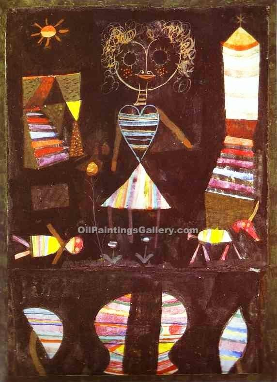 """Puppet Theater"" by  Paul Klee"