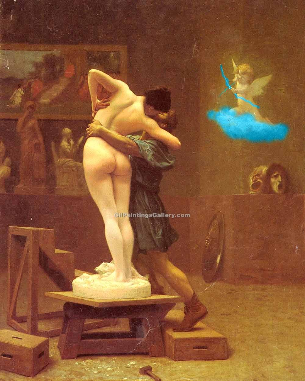 """Pygmalion and Galatea"" by  Jean Leon Gerome"