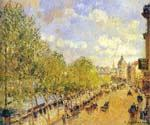 Quay of Malaquais in the Sunny Afternoon by  Camille Pissarro (Painting ID: CI-0842-KA)