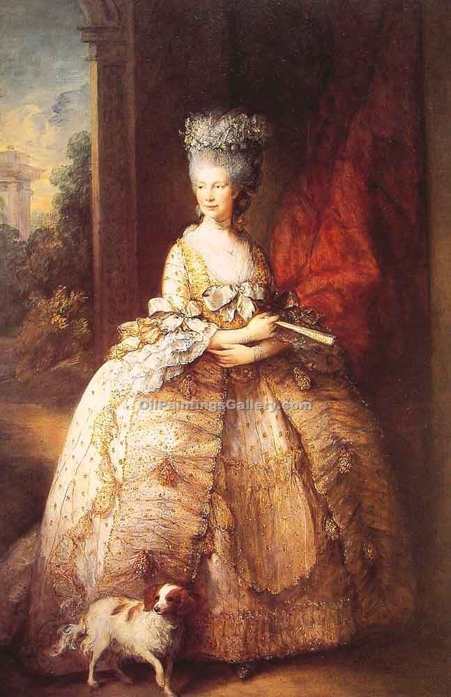 """Queen Charlotte"" by  Thomas Gainsborough"
