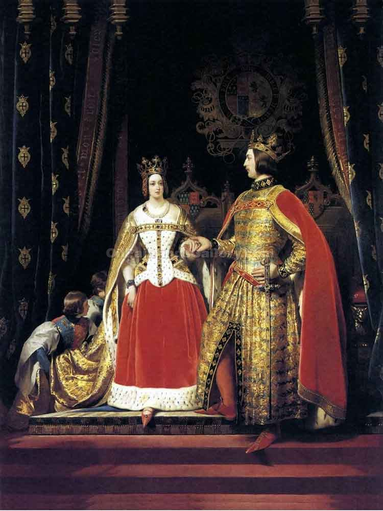 Queen Victoria And Prince Albert By Sir Edwin Henry