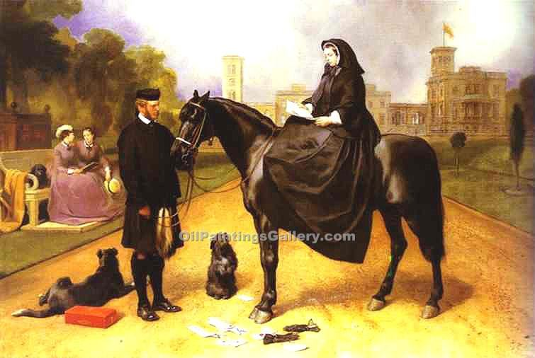 """Queen Victoria at Osborne House"" by  Sir Edwin Henry Landseer"