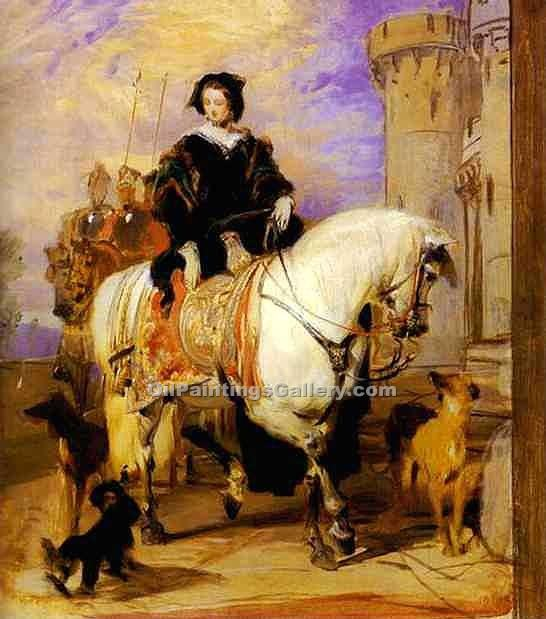 """Queen Victoria on Horseback"" by  Sir Edwin Henry Landseer"