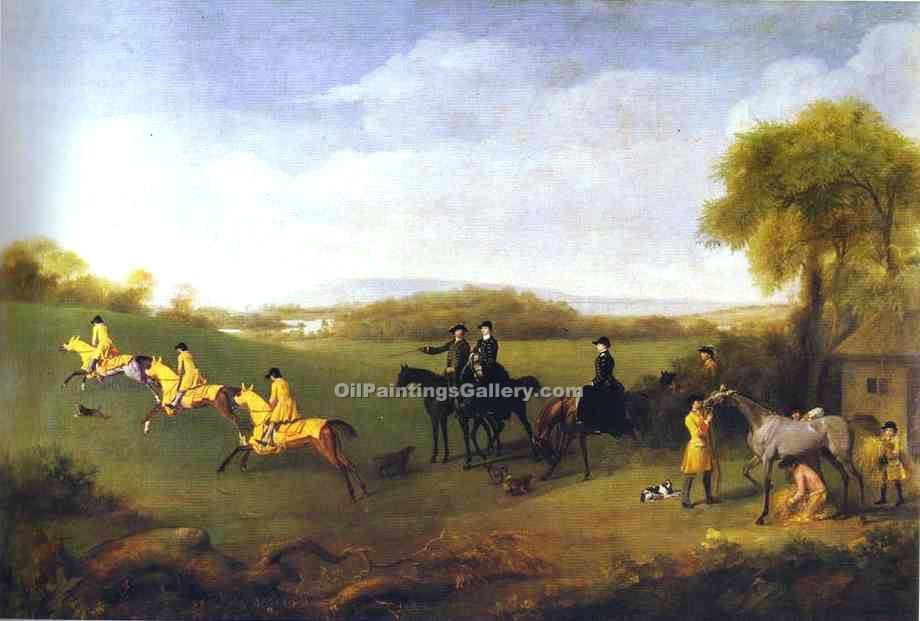 """Racehorses Belonging to the Duke of Richmond"" by  George Stubbs"