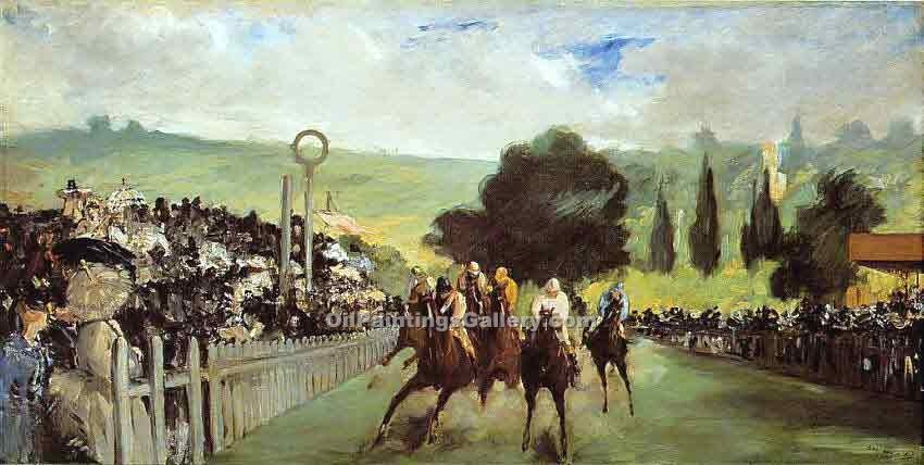 """Racetrack Near Paris"" by  Edouard Manet"