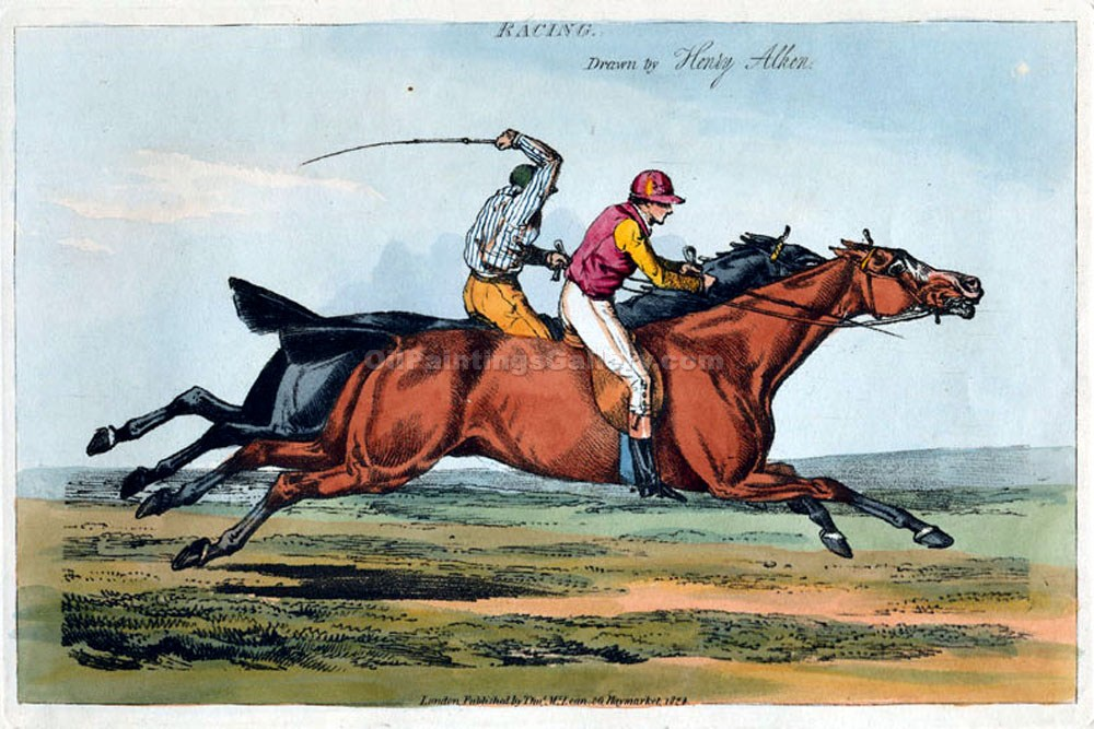 """Racing"" by  Henry Thomas Alchen"