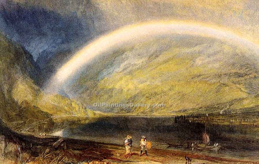 """Rainbow a View on the Rhine"" by  William Turner"