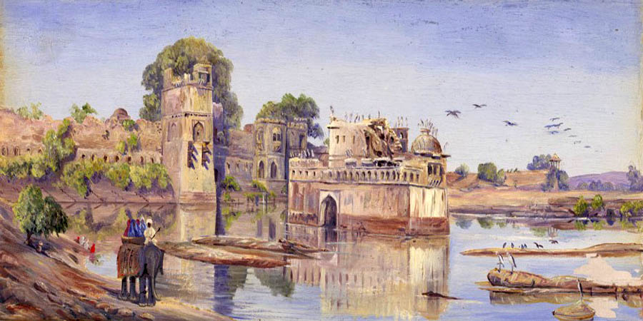 """Rajput Forts"" by  Marianne North"